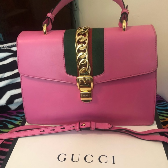 0ada9c2f50b Gucci Handbags - Gucci Sylvie Top Handle Medium Bag